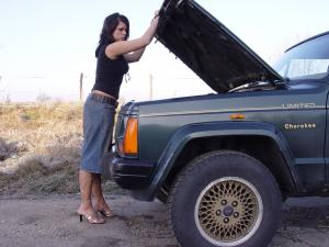 "Denise in ""Jeep-Cranking"""