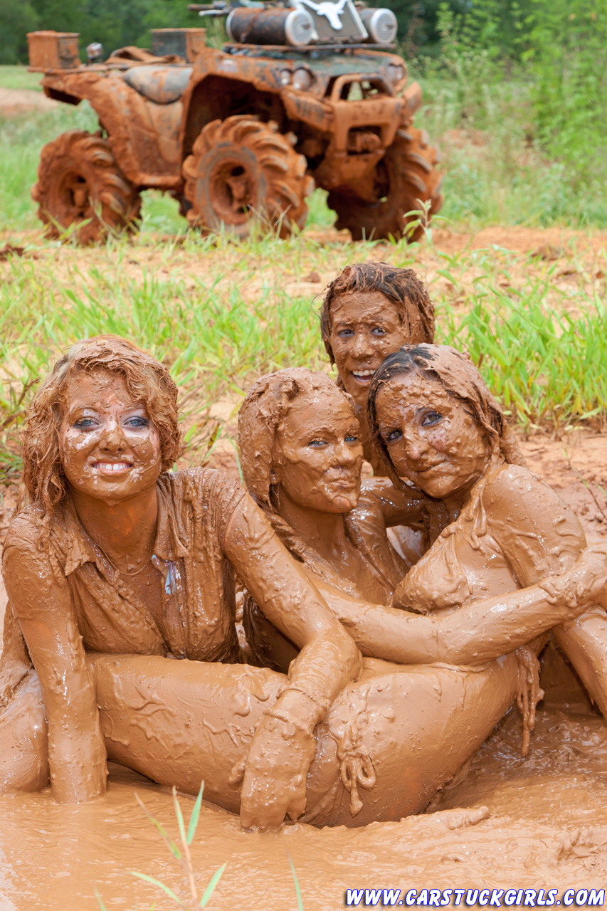 girls playing in deep mud videos
